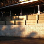 Wooden Tiered Retaining Wall